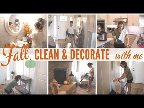 FALL CLEAN & DECORATE with me | 2019