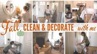 FALL CLEAN & DECORATE with me   2019