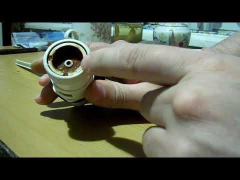 Ремонт запорного клапана  бачка унитаза