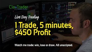 Live Day Trading - 1 Trade, 5 minutes, $450 Profit