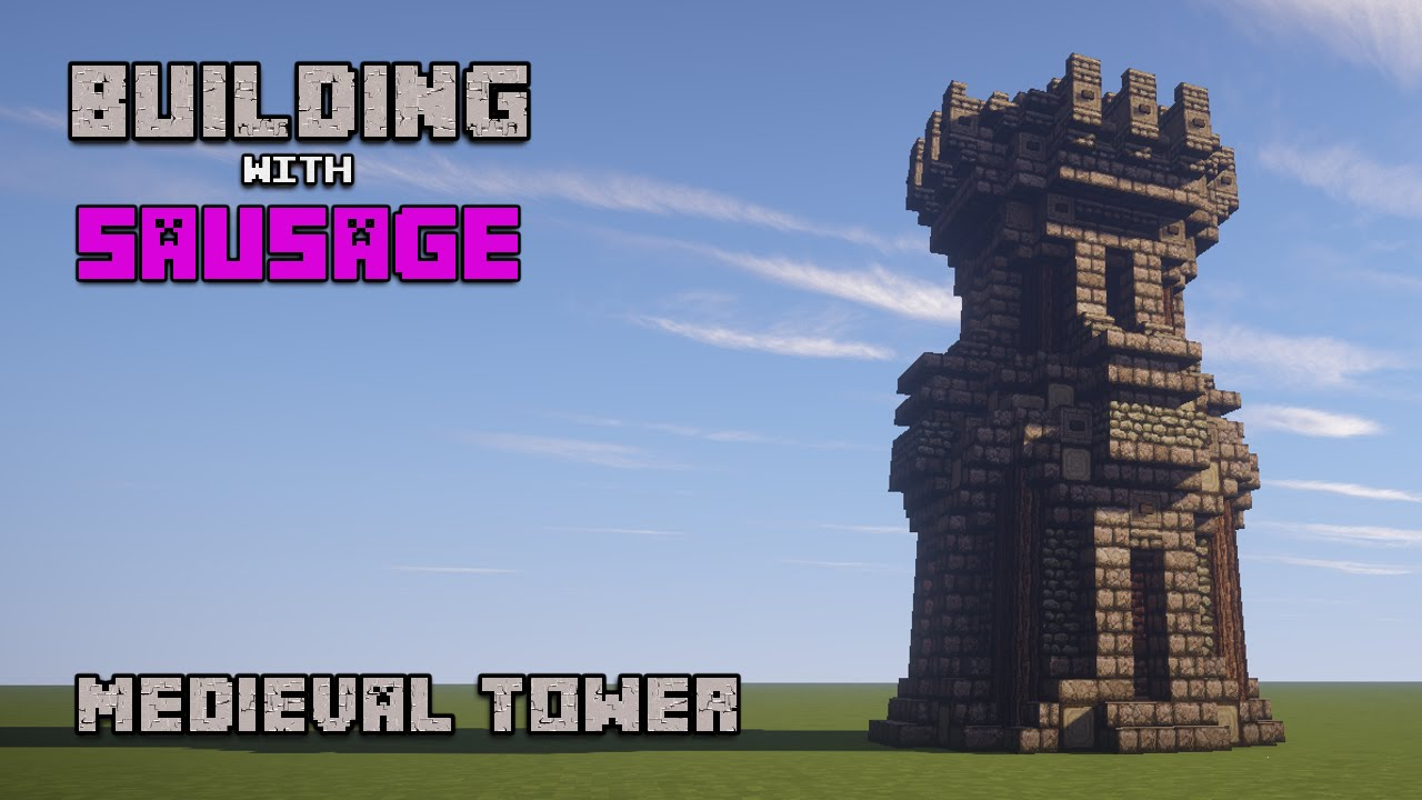 Minecraft Medieval Tower Tutorial [How to Build]