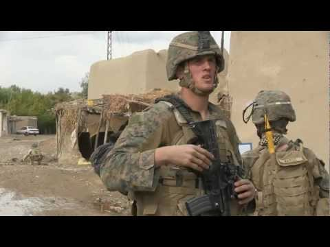 Marine Patrol Base Georgia - Securing village with K9 (Military dog)