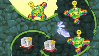 Bad Piggies - SPINNING AROUND TO MARBLE ON RAINBOW INVENTIONS!