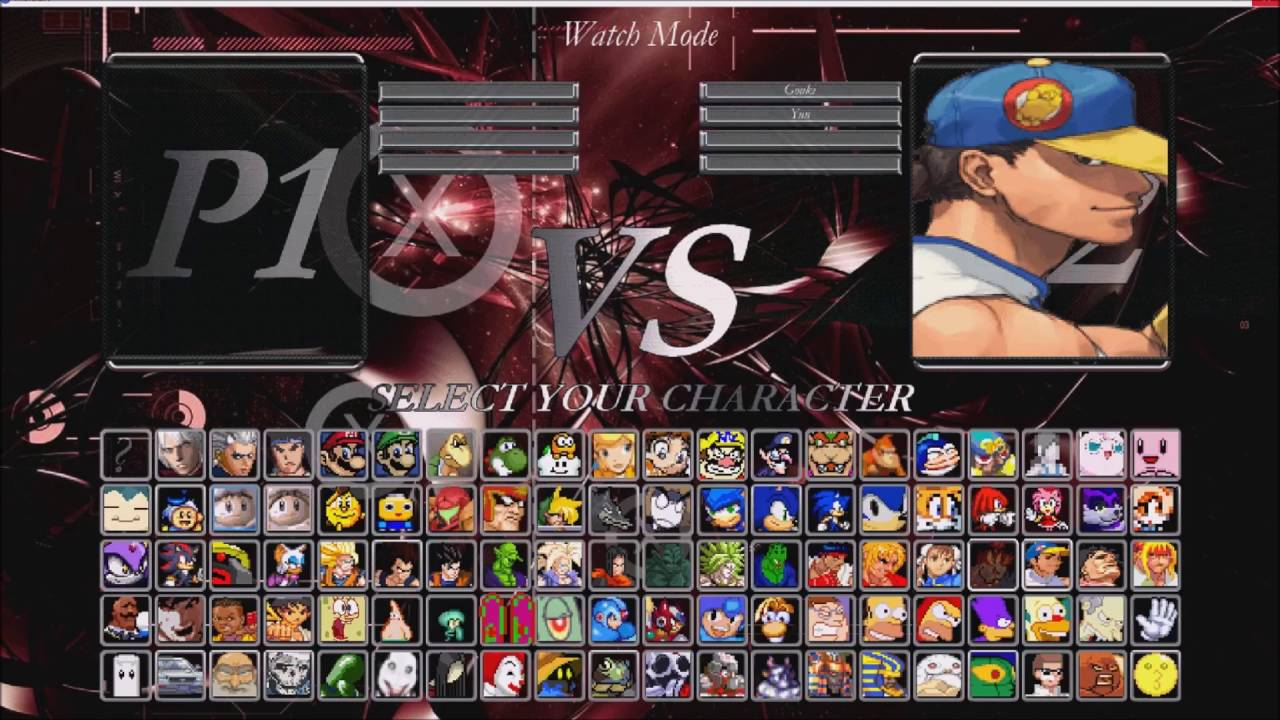 Mugen character slots download fiches poker