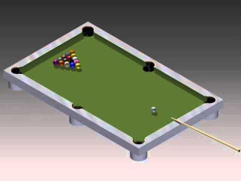 pool table basic cad animation autodesk youtube