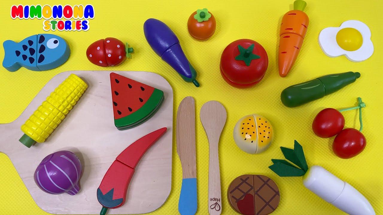 Nombres de Alimentos para niños 🍅🍇 Videos educativos ✨ Mimonona Stories