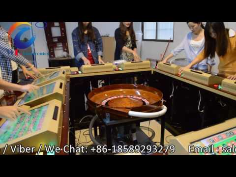 Video Roulette game board