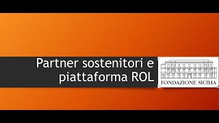 Tutorial partner cofinzanziatori