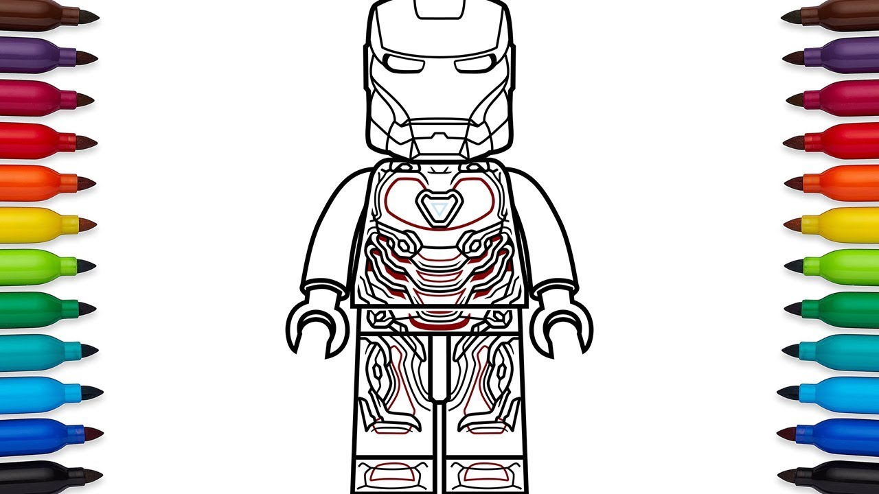 How to draw Lego Iron Man Mark