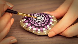 ? Painting A Mandala Stone ASMR (Fully Whispered, Binaural, Ear to Ear, Tapping)