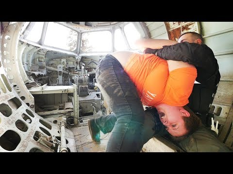 WANTED GIRL FOUND HIDING OUT IN AN AIRPLANE!