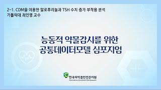 2-1. CDM을 이용한 알로푸리놀과 TSH 수치 증가…
