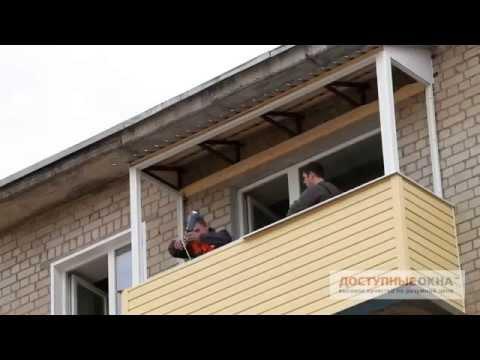 Отделка балкона верхнего этажа