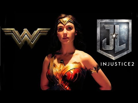 INJUSTICE 2 - WONDERWOMAN - SKIN DE LA PELÍCULA - JUSTICE LEAGUE - GAL GADOT - GAMEPLAY