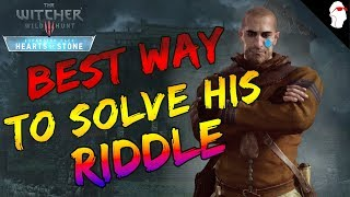 bEST Way To Complete Master Mirror / Whatsoever a Man Soweth Riddle The Witcher 3 - Heart of Stone
