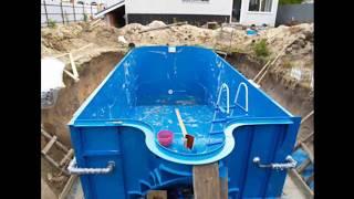 видео Бетонный бассейн на даче: конструкция, отделка, формы и размеры