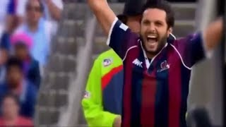 shahid Afridi outstanding bowling in county cricket 2017