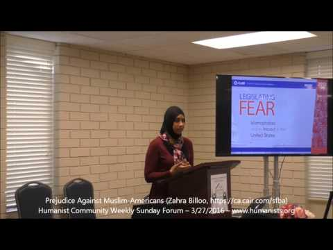 Humanist Community Forum (2016-03-27): Prejudice Against Muslim-Americans (Zahra Billoo)