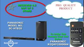 review panasonic home theater system sound bar 2 1 channel 240 watt sc htb20