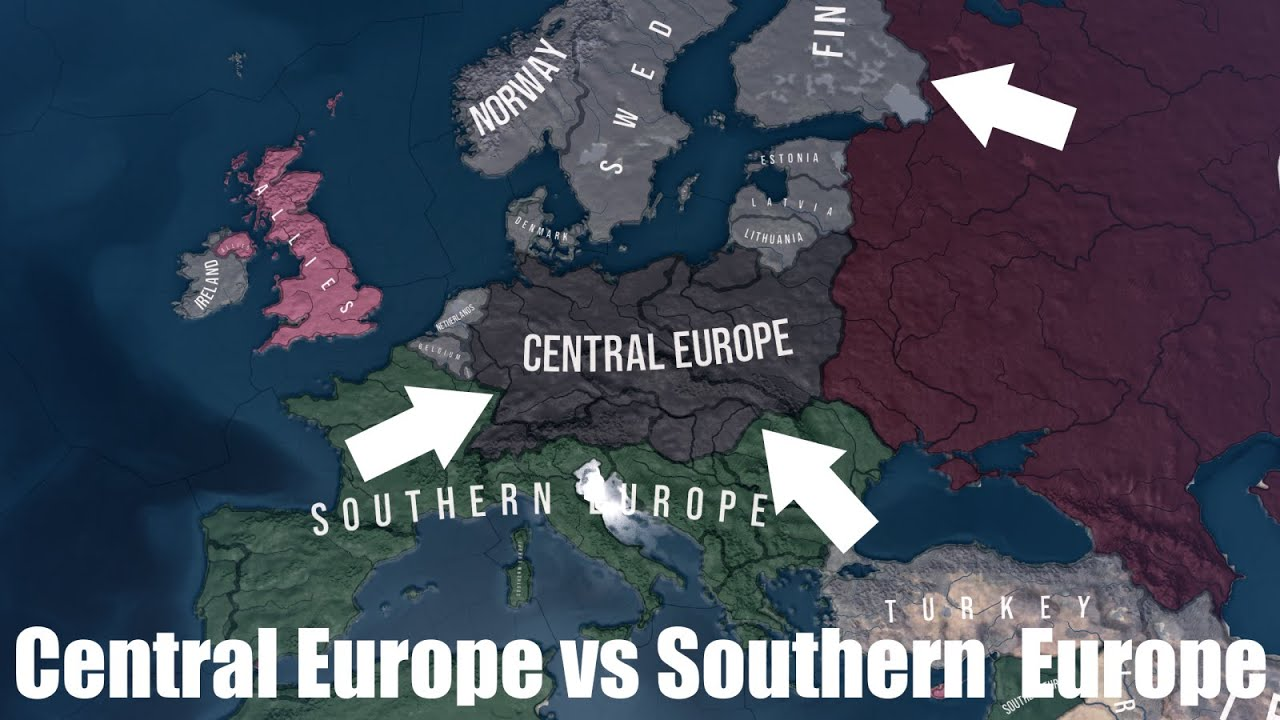 Central Europe vs Southern Europe - Hoi4 timelapse