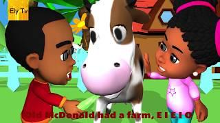 Old MacDonald had a farm e i e i o song | Old Macdonald song with lyrics simple nursery rhymes