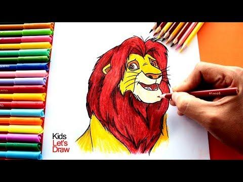 Cómo Dibujar A Simba De El Rey León Paso A Paso How To Draw