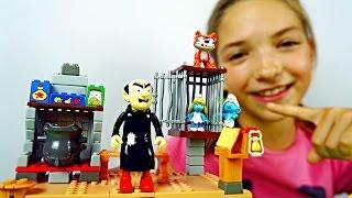Видео про игрушки - Выручаем Смурфету от Гаргамеля
