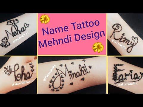 ddbc08084 Name tattoo mehndi design|| beautiful name tattoo design with henna ...