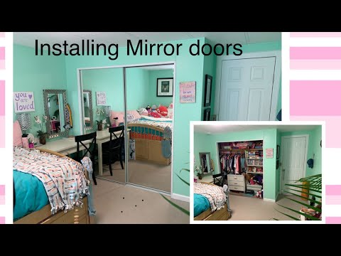 Creative And Fun Way To Redesign A Room. How To Install Home Depot Mirror Doors