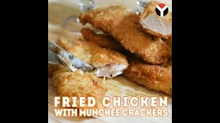 Fried Chicken with Munchee Crackers