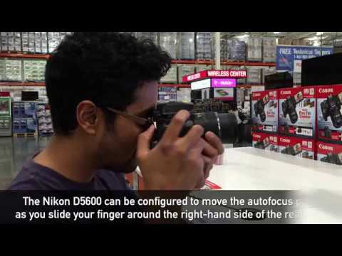 Using the Nikon D5600's touchpad autofocus feature with DPReview com