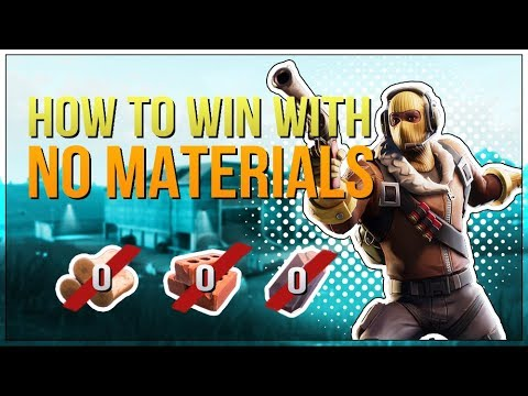 HOW TO WIN   No Materials Guide and Tips (Fortnite Battle Royale)