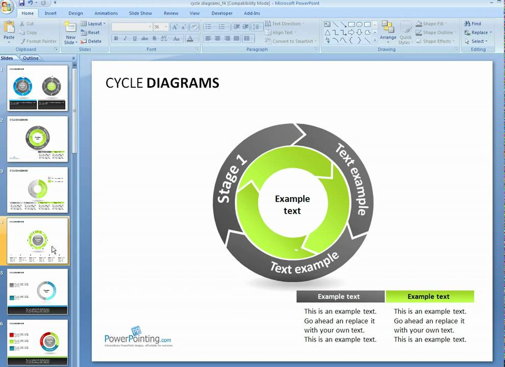 How To Customize Cycle Diagrams In Powerpoint  Youtube