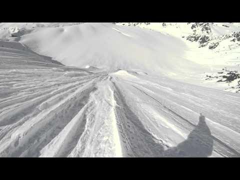 Doug Flutie Snowboard Descent - Silverton Mountain Guides Alaska Heli-Ski - GoPro