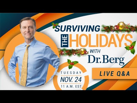 Surviving the Holidays with Dr. Eric Berg - LIVE Q & A