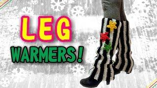 Vertical Stripe Leg Warmers - Crochet Pattern & Tutorial