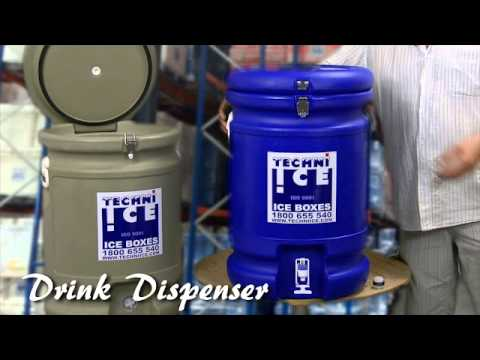 Drink Dispenser - Techniice Drink Cooler With Tap Video