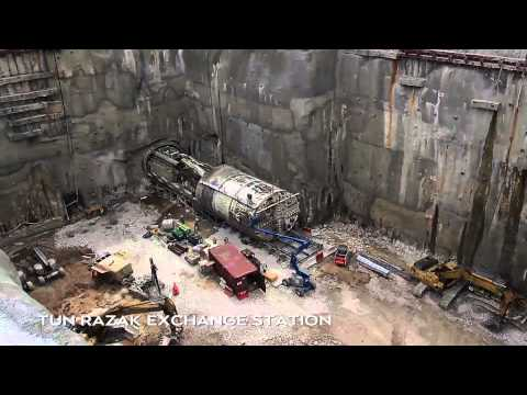 MRT Malaysia Underground Works Package Time Lapse Progress Video 2015