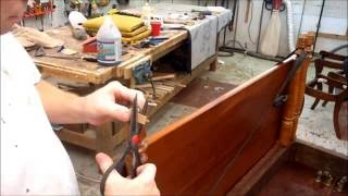 Installing Brass Cup Casters On Antique Table , Antique Restoration