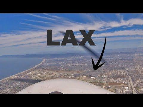 Open Airplane Rental, San Diego-Santa Monica over LAX VFR (ATC audio)