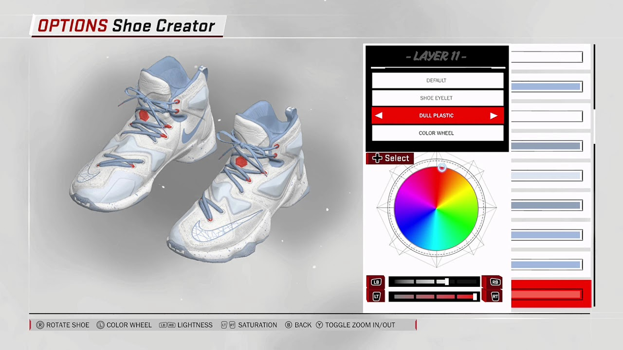 d79d423a1f81 NBA 2K18 Shoe Creator - Nike LeBron 13