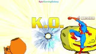 SpongeBob SquarePants & Spider-Man VS Kenny & Squirtle The Pokemon In A MUGEN Match / Battle / Fight