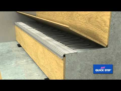 Quick Step Incizo stair profile installation  YouTube