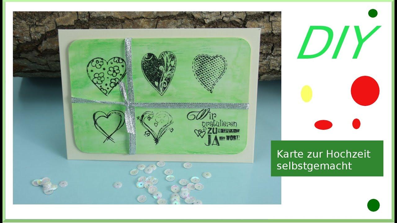 Hochzeit Karte Selber Basteln.Hochzeitskarte Wir Gratulieren Einfach Selber Basteln Mit Gelatos Cardmaking Deutsch