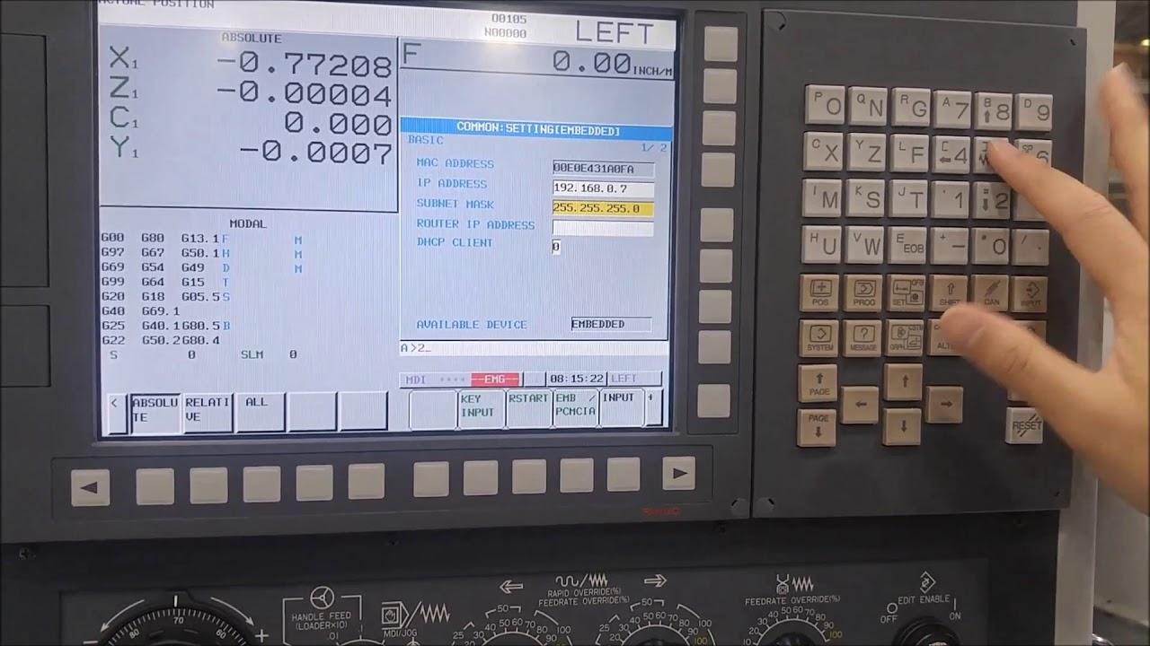 Murata Fanuc CNC Set IP adress on Embedet Ethernet Port