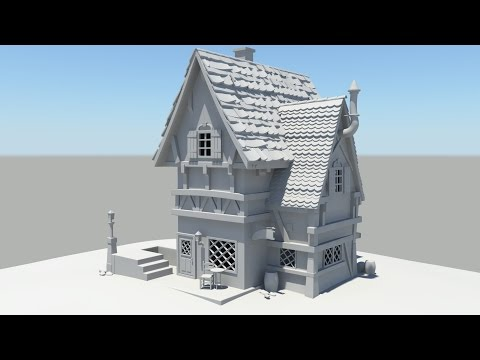 Autodesk maya 2014 tutorial old house modeling part 1 for Classic house tutorial