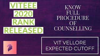 VIT result 2020   VIT counselling 2020   VIT rank vs branch   VIT rank list 2020