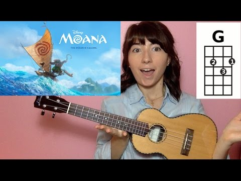 How Far I'll Go Moana (Ukulele Tutorial)