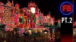 Small World lights and ride through | Christmas Lights at Disneyland | 11-18-17 Pt. 2