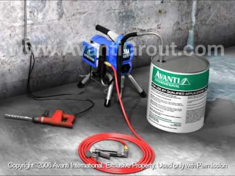 Crack Injection with Pump